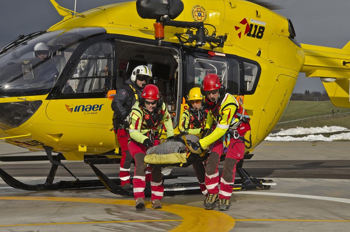Elicottero Elisoccorso : Caltrano boscaiolo si infortuna deve intervenire l