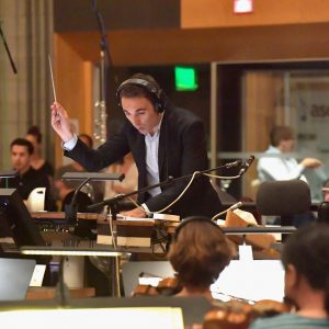 CENTURY CITY, CA - AUGUST 01:  Composer Paolo Agostini performs during the ASCAP 2016 Film Scoring Workshop on the Newman Scoring Stage at Fox Studio Lot on August 1, 2016 in Century City, California.  (Photo by Lester Cohen/Getty Images for ASCAP) *** Local Caption *** Paolo Agostini