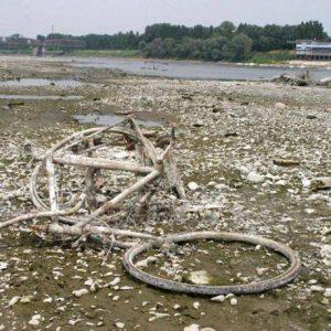 Cremona il fiume Po in secca - fotografo: rastelli