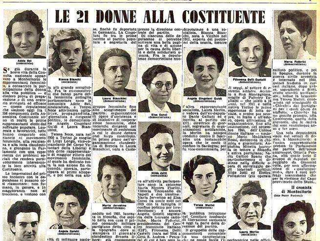 Schio al pasini le 21 donne della costituzione altovicentinonline - Diva e donne giornale ...