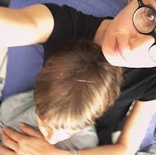 selfie con figlio