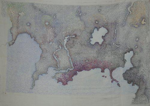 2_angelo-gentile-mappa-2015_tecnica-penne-a-biro-colorate-su-lenzuolo-_130x220cm
